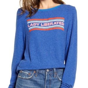 Wildfox Blue Lady Liberated Baggy Beach Jumper BBJ